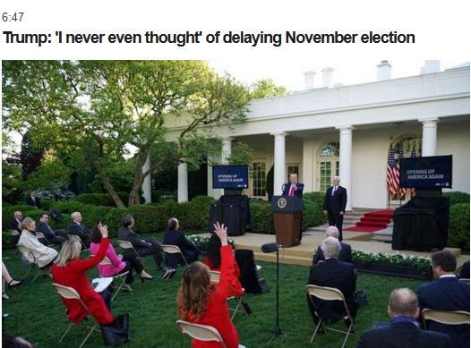 会否推迟美国总统选举?特朗普直接否认:从没这么想过,11月3日是个好日子 会否推迟美国总统选举?特朗普直接否认:从没这么想过,11月3日是个好日子 合同纠纷